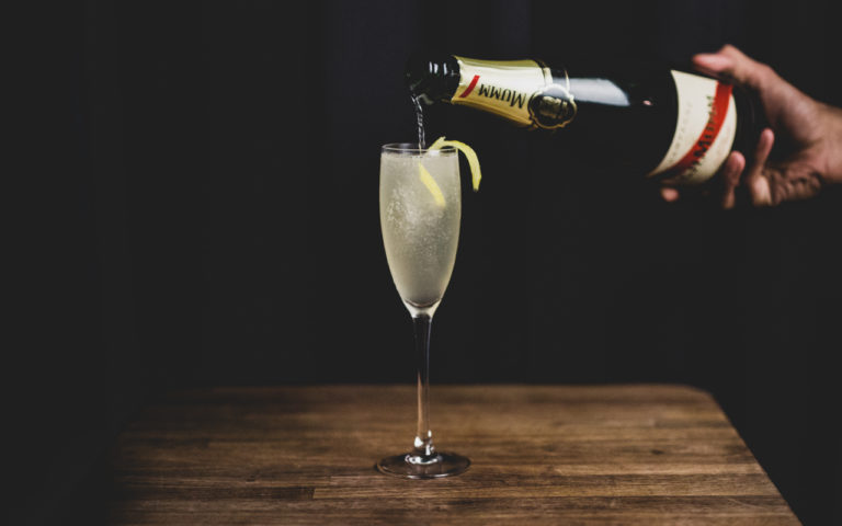 drinks med champagne French 75 drinks opskrifter