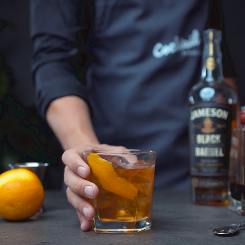 Jameson irish whiskey old fashioned opskrift cocktail drinks