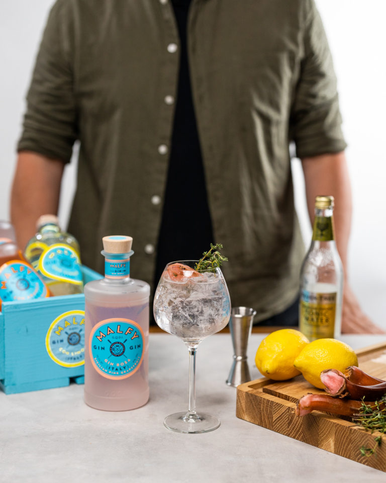 ginbisse gin tonic twist malfy rosa opskrift cocktail drinks