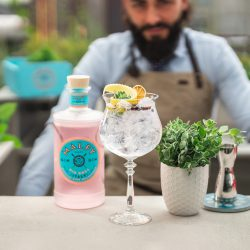 cocktail gin tonic opskrift recipe malfy gin rosa